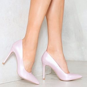 NWOT Truffle Collection Pink Vegan Leather Heels